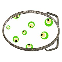 Green eyes Belt Buckles