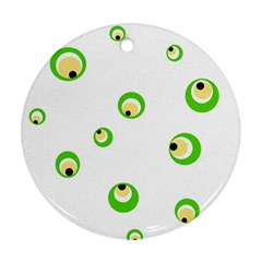 Green eyes Round Ornament (Two Sides)