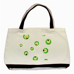 Green eyes Basic Tote Bag (Two Sides)