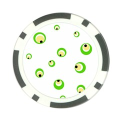 Green eyes Poker Chip Card Guards