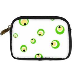 Green eyes Digital Camera Cases