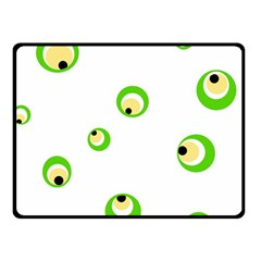 Green eyes Fleece Blanket (Small)