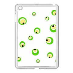 Green eyes Apple iPad Mini Case (White)