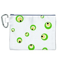 Green eyes Canvas Cosmetic Bag (XL)