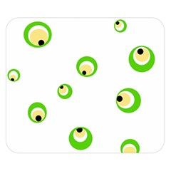 Green eyes Double Sided Flano Blanket (Small)
