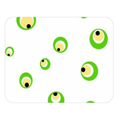 Green eyes Double Sided Flano Blanket (Large)