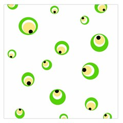 Green eyes Large Satin Scarf (Square)