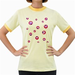 Purple eyes Women s Fitted Ringer T-Shirts