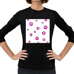 Purple eyes Women s Long Sleeve Dark T-Shirts