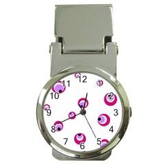 Purple eyes Money Clip Watches