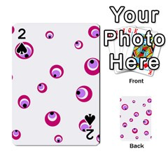 Purple eyes Playing Cards 54 Designs