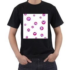 Purple eyes Men s T-Shirt (Black)