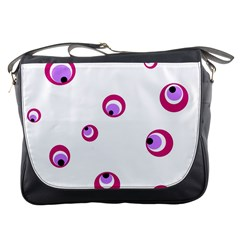 Purple eyes Messenger Bags