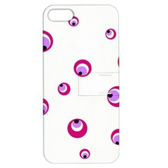 Purple eyes Apple iPhone 5 Hardshell Case with Stand