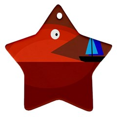 Red monster fish Ornament (Star)