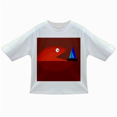 Red monster fish Infant/Toddler T-Shirts