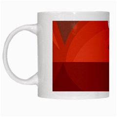 Red Monster Fish White Mugs