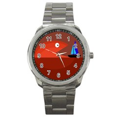 Red monster fish Sport Metal Watch