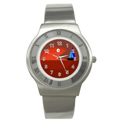 Red monster fish Stainless Steel Watch