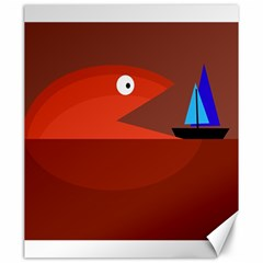 Red monster fish Canvas 20  x 24