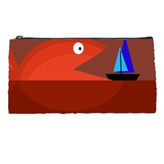 Red monster fish Pencil Cases