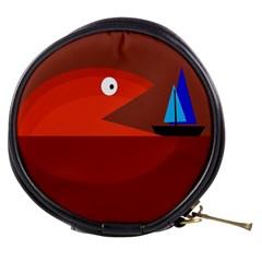 Red monster fish Mini Makeup Bags