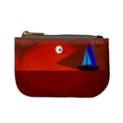 Red monster fish Mini Coin Purses