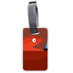 Red monster fish Luggage Tags (One Side)