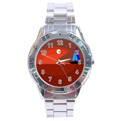 Red monster fish Stainless Steel Analogue Watch