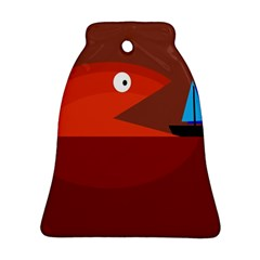 Red monster fish Bell Ornament (2 Sides)