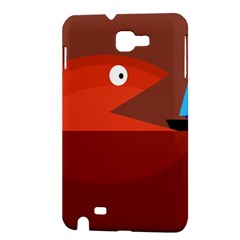Red monster fish Samsung Galaxy Note 1 Hardshell Case
