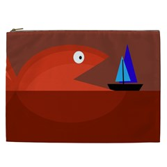 Red monster fish Cosmetic Bag (XXL)