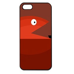 Red monster fish Apple iPhone 5 Seamless Case (Black)