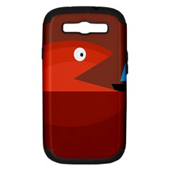 Red monster fish Samsung Galaxy S III Hardshell Case (PC+Silicone)