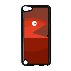 Red monster fish Apple iPod Touch 5 Case (Black)