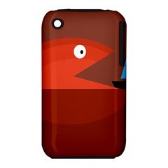 Red monster fish Apple iPhone 3G/3GS Hardshell Case (PC+Silicone)