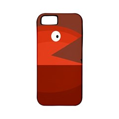 Red monster fish Apple iPhone 5 Classic Hardshell Case (PC+Silicone)