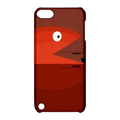 Red monster fish Apple iPod Touch 5 Hardshell Case with Stand