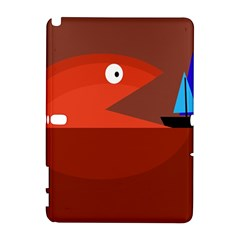 Red monster fish Samsung Galaxy Note 10.1 (P600) Hardshell Case