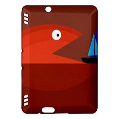 Red monster fish Kindle Fire HDX Hardshell Case