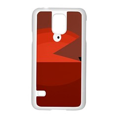 Red monster fish Samsung Galaxy S5 Case (White)