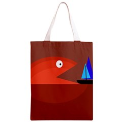 Red monster fish Classic Light Tote Bag