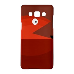 Red monster fish Samsung Galaxy A5 Hardshell Case