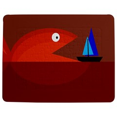 Red monster fish Jigsaw Puzzle Photo Stand (Rectangular)