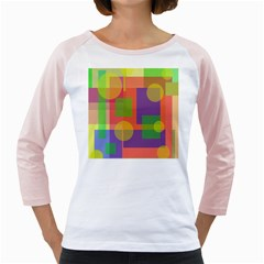 Colorful geometrical design Girly Raglans