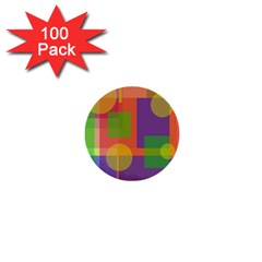 Colorful geometrical design 1  Mini Buttons (100 pack)