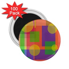 Colorful geometrical design 2.25  Magnets (100 pack)