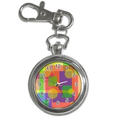 Colorful geometrical design Key Chain Watches
