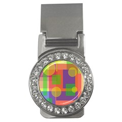 Colorful geometrical design Money Clips (CZ)