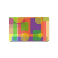 Colorful geometrical design Magnet (Name Card)